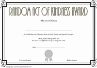 Random Act of Kindness Certificate Template 3