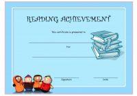 Reading Achievement Certificate Template