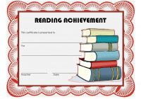 Reading Achievement Certificate Template 4