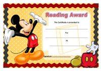 Reading Award Certificate Template 1