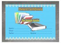 Reading Award Certificate Template 4