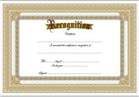 Recognition Certificate Editable