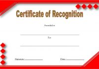 Recognition Certificate Editable 4