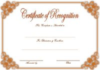 Recognition Certificate Editable 5