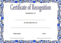 Recognition Certificate Editable 6