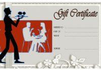Restaurant Gift Certificate 1