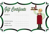 Restaurant Gift Certificate 3