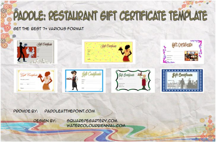 Permalink to Restaurant Gift Certificates Printable FREE – 7+ Templates