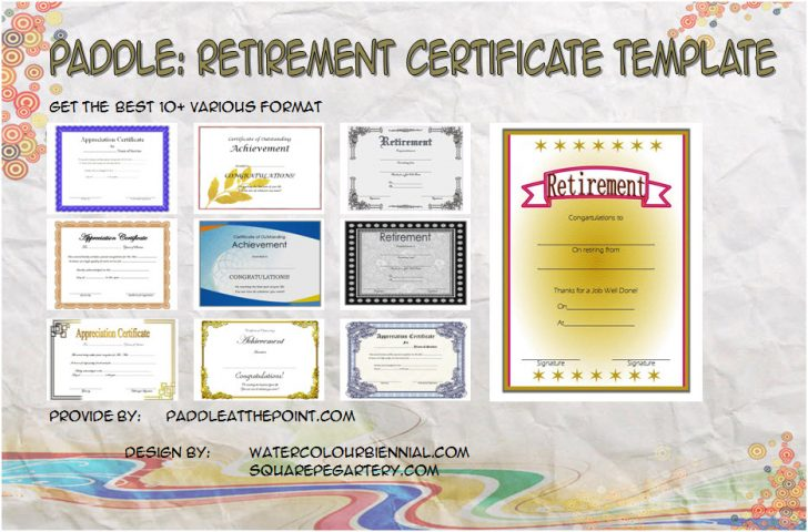 Permalink to Retirement Certificate – FREE 10+ Best Template Ideas
