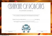 Robotics Certificate Template 1