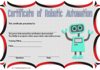Robotics Certificate Template 4