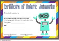 Robotics Certificate Template 5