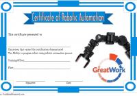 Robotics Certificate Template 6