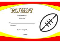 Rugby Certificate Template 2