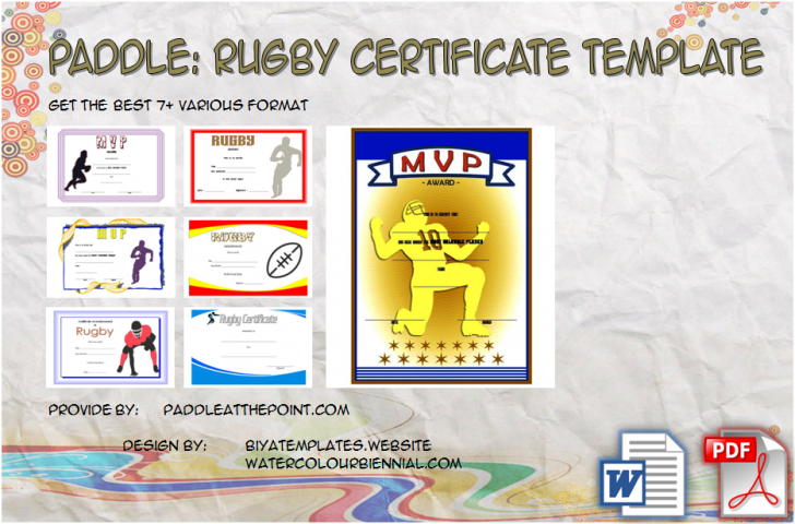 Permalink to Rugby Certificate Template