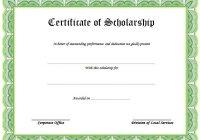 Scholarship Award Certificate Template 2