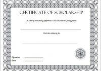 Scholarship Award Certificate Template 3