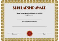 Scholarship Award Certificate Template 5