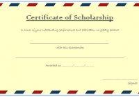 Scholarship Award Certificate Template 7