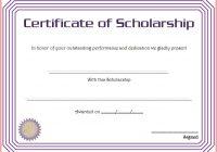 Scholarship Award Certificate Template 8