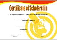 Scholarship Award Certificate Template 9