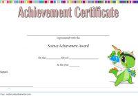 Science Achievement Certificate Template 1