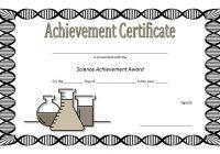Science Achievement Certificate Template 3