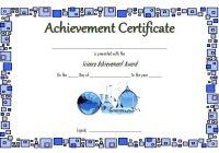 Science Achievement Certificate Template 5