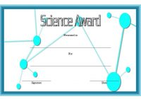 Science Award Certificate