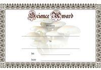 Science Award Certificate 8