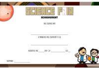 Science Fair Certificate 4