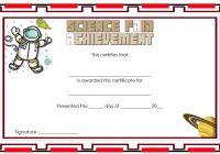 Science Fair Certificate 5