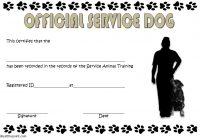 Service Dog Certificate Template 5