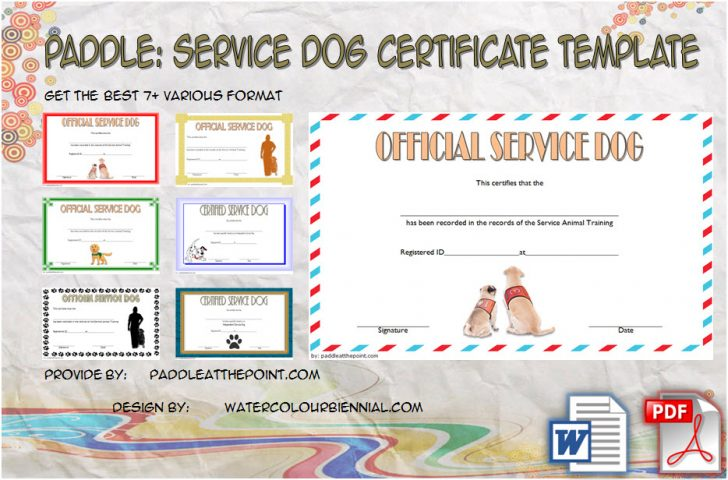 Permalink to Service Dog Certificate Template – 7+ Latest Designs Free