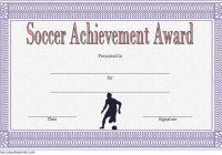 Soccer Achievement Certificate Template 1