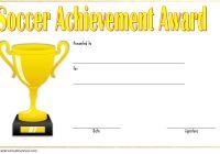 Soccer Achievement Certificate Template 2