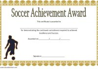 Soccer Achievement Certificate Template 4