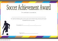 Soccer Achievement Certificate Template 5