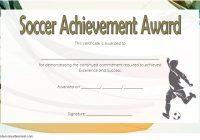 Soccer Achievement Certificate Template 6