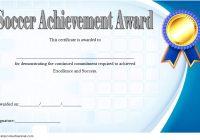 Soccer Achievement Certificate Template 7