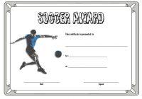 Soccer Award Certificate Template 1