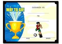 Soccer Award Certificate Template 4