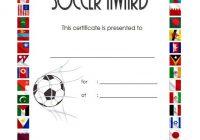Soccer Certificate Template 5