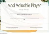 Soccer MVP Certificate Template 1