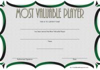 Soccer MVP Certificate Template 2