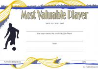 Soccer MVP Certificate Template 3