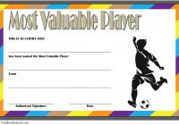 Soccer MVP Certificate Template 4