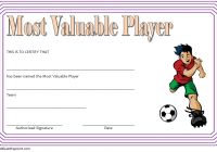 Soccer MVP Certificate Template 5