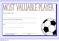 Soccer MVP Certificate Template 6