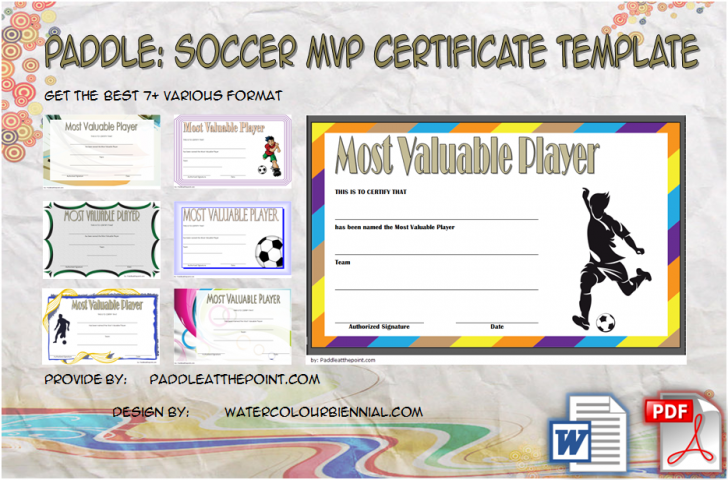 Permalink to Soccer MVP Certificate Template – 7+ Player Awards Free